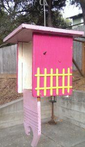 colorful birdhouse for the garden