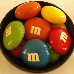painted rock candy M&M's