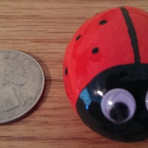 small painted ladybug rock for your home decor or garden