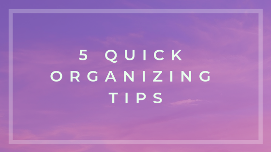 click to sign up and get 5 quick organising tips