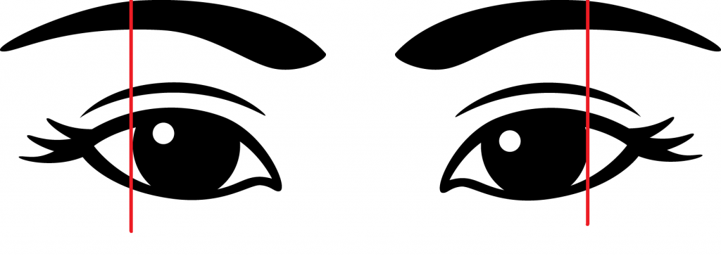 eyes with brow arch placement
