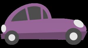 purple cartoon car