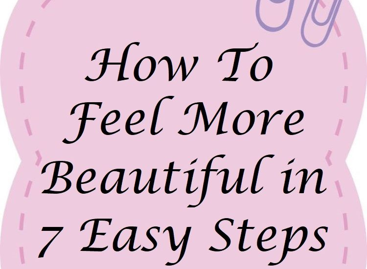 sticky note on how to feel more beautiful