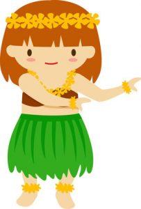 cartoon hula girl